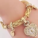 Mujer Niño Reloj de Moda Reloj de Pulsera Reloj Pulsera Cuarzo Brillante La imitación de diamante Aleación BandaCosecha Heart Shape