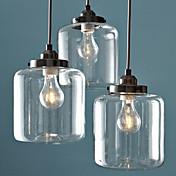 Lámparas Colgantes ,  Tradicional/Clásico Cosecha Galvanizado Característica for Mini Estilo Metal Sala de estar Comedor