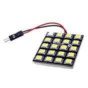 T10 BA9S G4 10W 20x5050SMD 700-800LM 6000-6500K LED blanco Control / lectura lámpara (DC 12V)