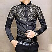 Men's V Neck England Fashion Slim Long Sleeved Shirt