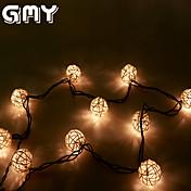 GMY navidad luz ratán luz secuencia de la bola