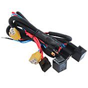 h4 / 9003 toma el fusible del relé conector del mazo de cables de refuerzo de los faros