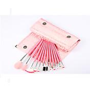 12Pincel Abanico / Cepillo para Polvos / Esponja Aplicadora / Cepillo para Base / Sistemas de cepillo / Cepillo para Colorete / Pincel