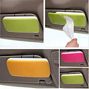 soporte de papel para el sol del coche de caja del tejido del visera con accesorios de automóviles de clip titular