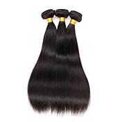 Cabello humano Cabello Peruano Tejidos Humanos Cabello Liso Extensiones de cabello 3 Piezas Color natural