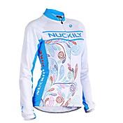 Nuckily Biciklistička majica Žene Dugi rukav Bicikl Biciklistička majica MajiceVjetronepropusnost Anatomski dizajn Ultraviolet Resistant