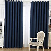 Dos Paneles Ventana Tratamiento De Diseño , Caricatura Sala de estar Mezcla de Lino y Algodón Material Blackout cortinas cortinas