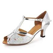 Zapatos de baile(Negro Azul Plata Gris Oro) -Latino-Personalizables-Tacón Personalizado