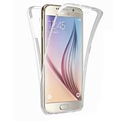 Para Samsung Galaxy S7 Edge Transparente Funda Cuerpo Entero Funda Un Color TPU Samsung S7 edge / S7 / S6 edge plus / S6 edge / S6 / S5