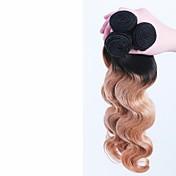 Ombre Cabello Brasileño Ondulado Grande 6 Meses 3 Piezas los tejidos de pelo
