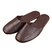 Hombre-Tacón Plano-Confort-Zapatillas y flip-flop-Exterior-Cuero-
