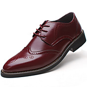 Hombre Zapatos Cuero Primavera Verano Otoño Invierno zapatos Bullock Zapatos formales Confort Oxfords Con Cordón Para Boda Casual Fiesta