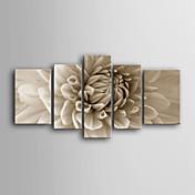 Botánico Impresión de la lona Cinco Paneles Listo para colgar , Vertical