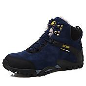 Hombre Botas Confort Botas de nieve Ante Invierno Casual Senderismo Confort Botas de nieve Con Cordón Tacón Plano Negro Azul Plano
