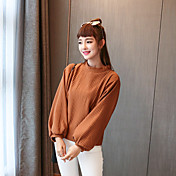 サイン韓国の秋の新野生の基本モデルソリッドカラーのシャツピットストリップは薄い緩いバットスリーブセーターでした