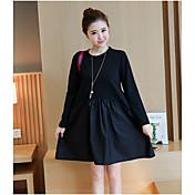 primavera 2017 mujeres Hitz Corea suelta vestido de punto de manga larga falda temperamento niñas marea párrafo largo