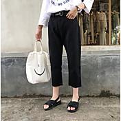 signo Corea compra 2017 nuevos nueve pequeños pantalones de pierna ancha blanco y negro de los pantalones vaqueros flojos Flash mujer