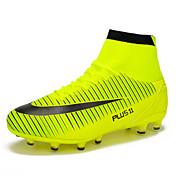 Hombre Zapatillas de Atletismo Fútbol Confort PU Primavera Verano Otoño Invierno Deportivo Con Cordón Negro Naranja Verde Azul Plano