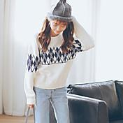 2016 otoño y el invierno de las nuevas mujeres de Corea femenina otoño jersey suelto de manga larga