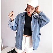 Nuevo coreano hacer viejo molino chaqueta de mezclilla blanco chaqueta retro era delgado hembra suelta chaqueta corta los estudiantes