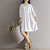 Signo sen 2017 primavera nueva línea femenina arte pequeño vestido retro fresco bordado de algodón suelto
