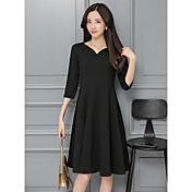 2017 del resorte nuevas mujeres&# 39; s vestido puso en un gran pequeño y elegante negro Hepburn vestido de cuello negro reunión anual