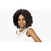 Mujer Pelucas sintéticas Encaje Frontal Corto Rizado Afro Negro Azabache Peluca afroamericana Para mujeres de color Peluca natural Las