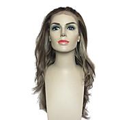 Mujer Pelucas sintéticas Encaje Frontal Largo Bleach Blonde Entradas Naturales Peluca natural Las pelucas del traje