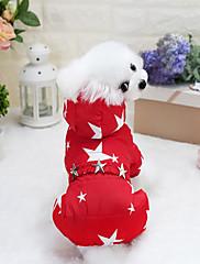 犬 コート 犬用ウェア カジュアル/普段着 水玉柄 フクシャ レッド ブルー