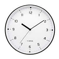 "11.5 ""h élégante horloge murale en métal 9021"