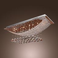 Lustre com Montagem Embutida Cristal Luxuoso para 8 Luzes