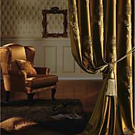 Dvije zavjese Prozor Liječenje Europska Neoclassical Bedroom Polyester Materijal Zavjese Zavjese Početna Dekoracija For Prozor