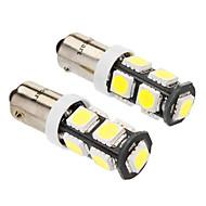 BA9S 4w 9x5060smd 320-360lm 6000-6500K lumière blanche Ampoule LED pour la voiture (dc 12v, 2-pack)