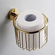 Gold Kylpyhuonetarvikkeet Brass Toilet Paper Holder