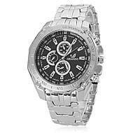 Pánské Náramkové hodinky Křemenný Slitina Kapela Stříbro Bílá Černá Modrá