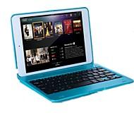 Para Case Tampa Com Suporte Com Teclado Flip Corpo Inteiro Capinha Côr Sólida Rígida PC para iPad Mini 3/2/1