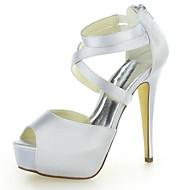 Dámské - Svatební obuv - Podpatky - Sandály - Svatba - Černá / Fialová / Slonovinová / Stříbrná / Champagne / Růžová / Červená / Bílá