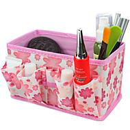 정방형 화장품을 저장 스탠드 상자 메이크업 브러쉬 냄비 화장품 주최자 접이식 (3 색 선택)