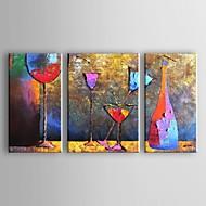 Maalattu Abstrakti Horizontal,Moderni Perinteinen 3 paneeli Kanvas Hang-Painted öljymaalaus For Kodinsisustus