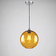 Moderní skleněné závěsné svítidlo Round jantar Bubble designu