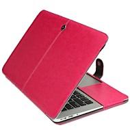 cor mais novo gabinete dobrável couro sólida para MacBook Air de 13,3 polegadas