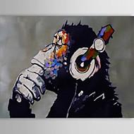 Maalattu Eläin Horizontal,Klassinen Moderni Perinteinen 1 paneeli Kanvas Hang-Painted öljymaalaus For Kodinsisustus