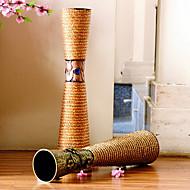 """23,6 """"h motif de fleur en vase vase de fer cylindrique de style moderne"""