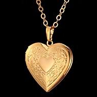 Dame Coliere cu Pandativ Heart Shape Flower Shape Iubire La modă Sculptat costum de bijuterii Bijuterii Pentru Ocazie specială Zi de