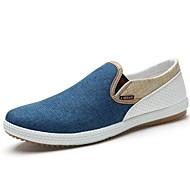 Férfi cipő Vászon Tavasz Nyár Kényelmes Papucsok & Balerinacipők Kompatibilitás Hétköznapi Kék Bézs Zöld