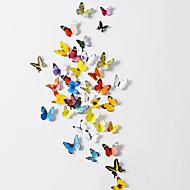 3D  Butterfly PVC Wall Stickers Wall Art Decals(38 Pcs A Set)