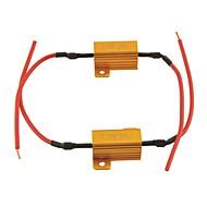Araba evrensel led lamba 25W-25ohm için yük direnci koruyucusu led (2 adet)