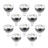 4W GU5.3(MR16) LED Spotlight MR16 320 lm Warm/Cool/Natural White Dimmable DC / AC 12 V 10 pcs