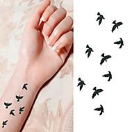 Serie de Animale Acțibilde de Tatuaj - Negru/Pink/Multicolor - Model - 6*10.5cm (2.36*4.13in) -