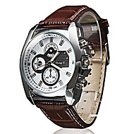 Pánské Náramkové hodinky Křemenný PU Kapela Černá Hnědá Bílá Černá Hnědá Hnědá / bílá